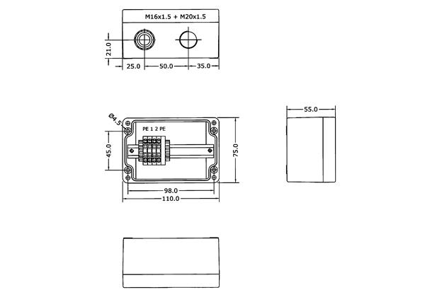 ATEX LED LINE - Terminal Box